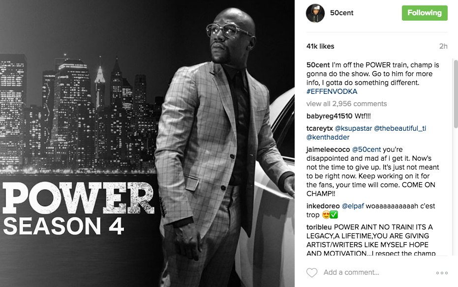"50 Cent Tells Golden Globes To Suck His D**k, Announces Floyd Mayweather To Replace Him On ""Power"""