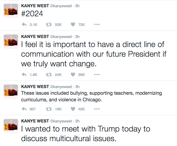 Kanye West Explains Meeting With Trump: We discussed multicultural issues.
