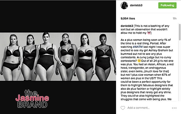 Danielle Brooks Calls Out ANTM For Not Having Plus Sized Contestants
