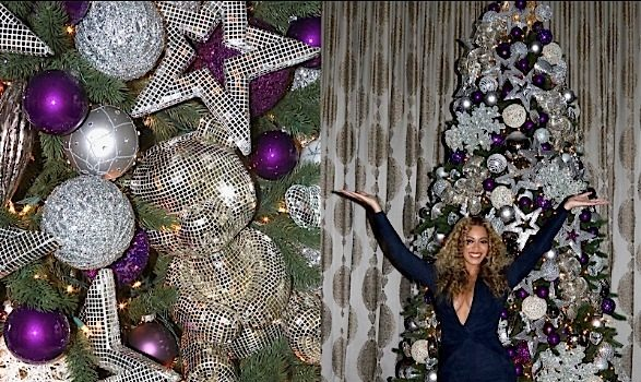 Beyonce Reveals Glam Christmas Trees, Blue Ivy's Holiday Decor! [Photos]