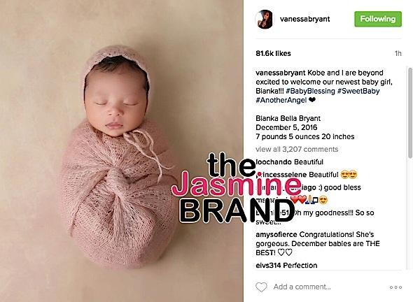Vanessa & Kobe Bryant Debut Newborn Daughter [Photo]
