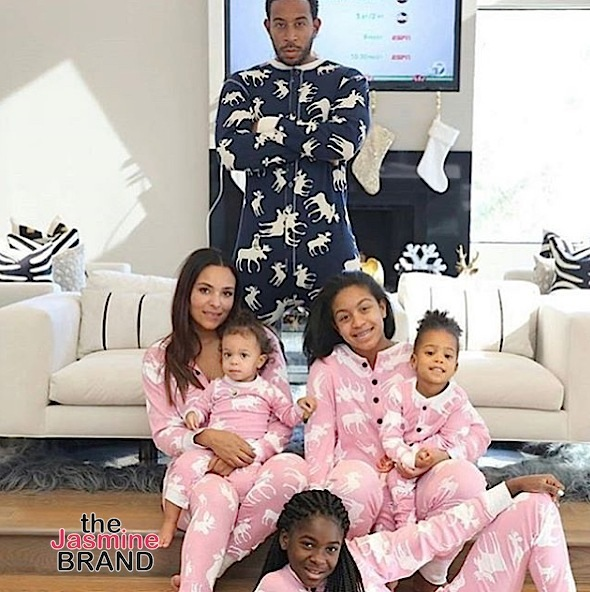 Ludacris, wife Eudoxiee and daughters Karma, Caie and Shaila