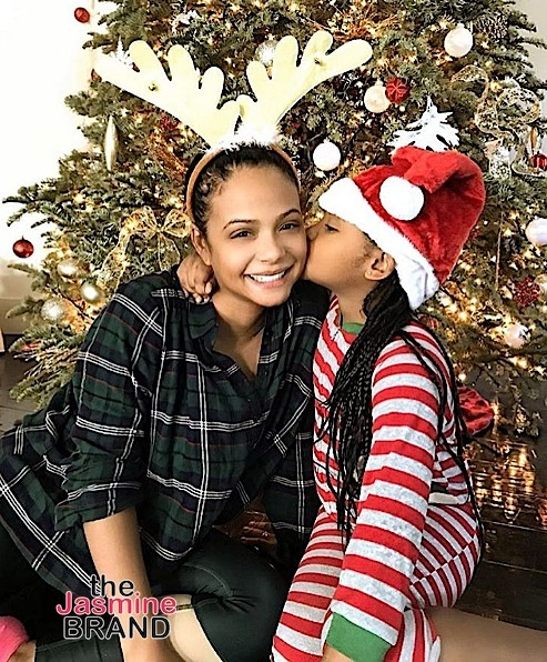 Christina Milian and daughter Violet.