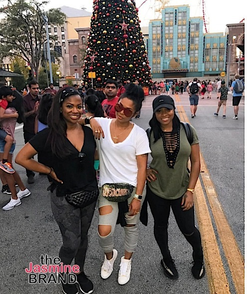 Reality stars Kandi Burruss, Rasheeda Frost and Toya Wright spend the holiday at Universal in Florida.