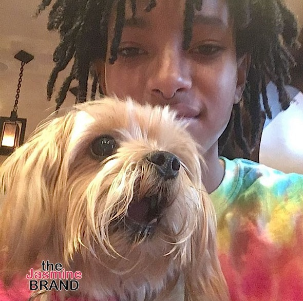 Merry Christmas from Willow Smith and her dog.