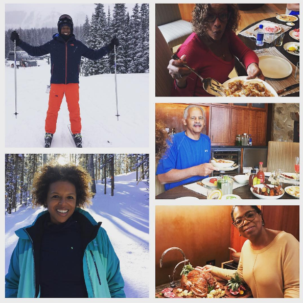 Ouch! Oprah Falls In the Snow! [VIDEO]