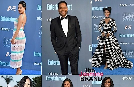 """Critics Choice Awards"" Red Carpet: Janelle Monae, Lisa Bonet, Kylie Bunbury, Naomie Harris, Kerry Washington, Tracee Ellis Ross, Viola Davis, Nia Long, Kevin Hart [Photos]"
