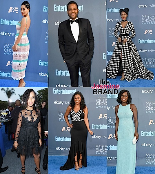 """Critics Choice Awards"" Red Carpet: Janelle Monae, Lisa Bonet, Kylie Bunbury, Naomi Harris, Kerry Washington, Tracee Ellis Ross, Viola Davis, Nia Long, Kevin Hart [Photos]"