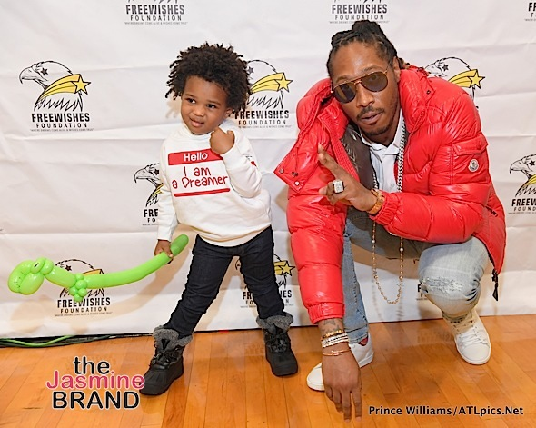 Baby Future Serves Insane Cuteness While His Dad (Rapper Future) Gives Back To ATL Families [Photos]