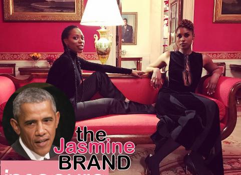 "President Obama Watches ""Insecure"" + Issa Rae, Yvonne Orji Visit White House [Photos]"