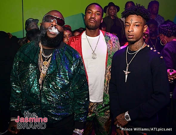 Rick Ross, Meek Mill, 21 Savage, K.Camp Party in ATL