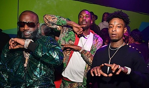 Rick Ross, Meek Mill, 21 Savage, K.Camp Party in ATL [Photos]