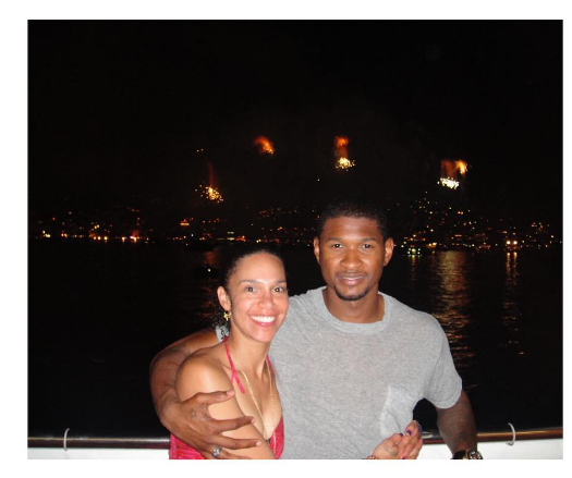 Look! Usher Shares Semi-Nude Photo of Wife