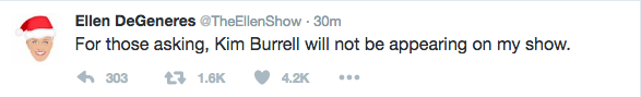 Ellen Pulls The Plug On Kim Burrell's Appearance