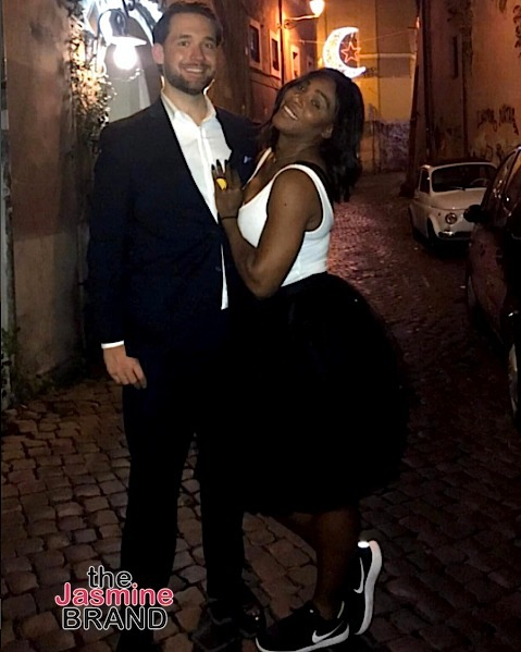 Serena Williams Reveals REAL & Taco Engagement Ring With Fiance [Photos]