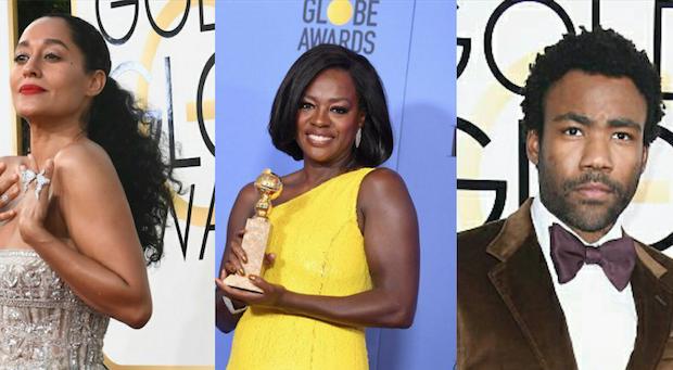 Golden Globe Awards: Tracee Ellis Ross, Donald Glover, Viola Davis, 'Moonlight', 'Atlanta' Win!