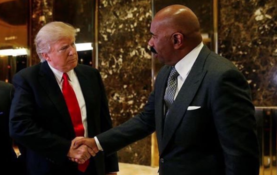Steve Harvey Hasn't Talked To Trump Since Controversial Meeting, Surprised At Backlash: It was vicious, they called me a coon.