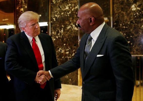 Steve Harvey Is Hurt By Backlash Over Trump Meeting