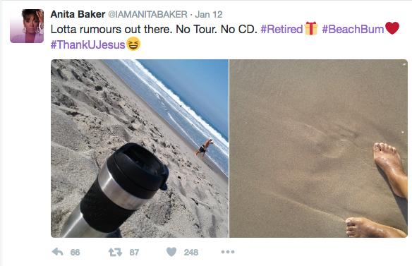 Anita Baker Announces Retirement