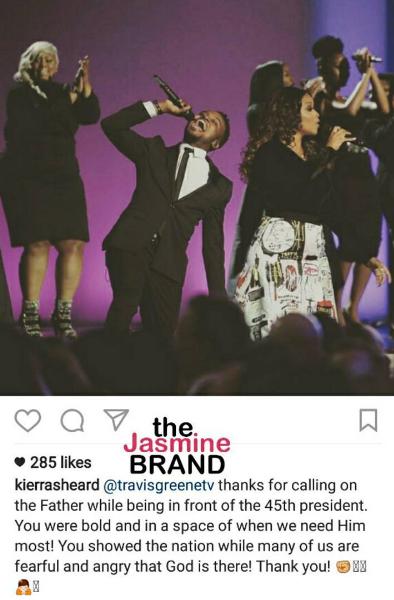 Chrisette Michele & Travis Greene Perform At Trump Inauguration