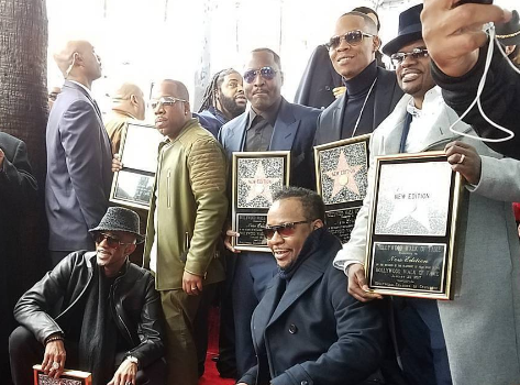 New Edition Receives Hollywood Star [Photos]