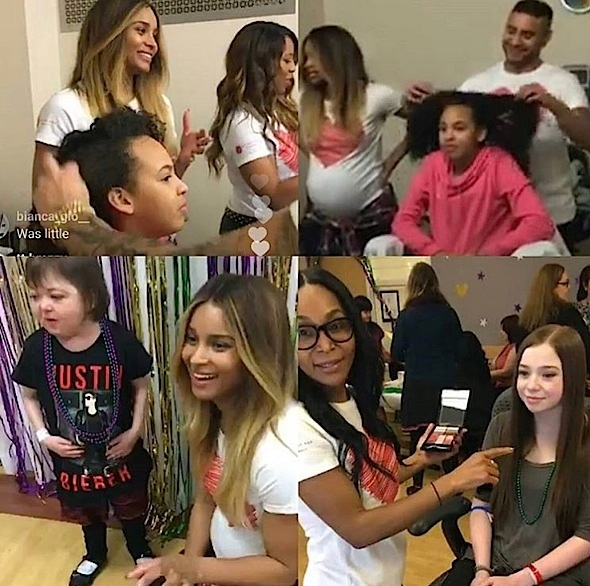 Ciara's Glam Squad Provides Make Overs At Seattle Children's Hospital [Photos]