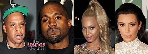 Kim & Kanye Reunite With Beyonce & Jay Z At Blue Ivy's Birthday Party