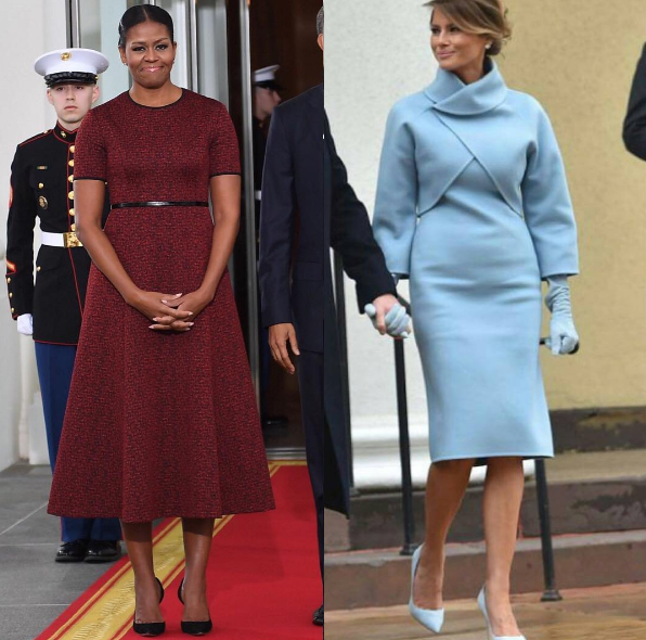 Michelle Obama Wears Jason Wu, Melania Trump In Ralph Lauren For Inauguration [Photos]