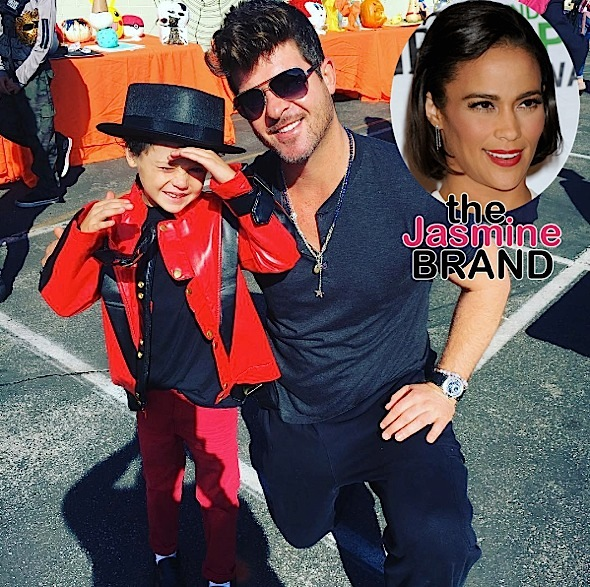 Robin Thicke & Paula Patton's 8-Year-Old Son Shows Off His Singing Skills [VIDEO]