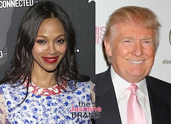 Zoe Saldana Says Hollywood Bullied Trump