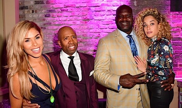 Fat Joe, Raekwon, Grant Hill, Shaq & Girlfriend Laticia Rolle, Charles Barkley Attend Kenny Smith's B-Day Bash [Photos]