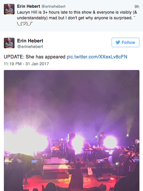 Lauryn Hill Shows Up 3 Hours Late For Concert