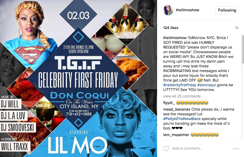 Lil Mo Fired From Radio Show, See Her Reaction