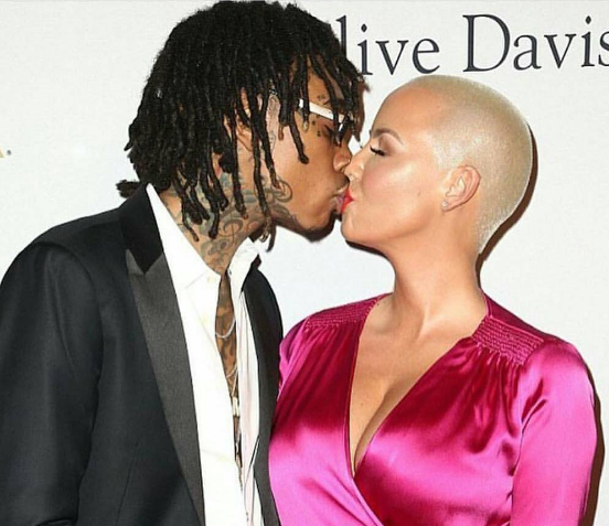 Amber Rose & Wiz Khalifa Kiss On Red Carpet, Rose Splits With Val Chmerkovskiy