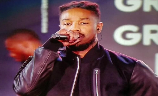 Michael B. Jordan, Jidenna Perform With The Roots For NBA All-Star Game