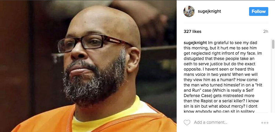 Suge Knight's Son: They're mistreating my dad in jail.