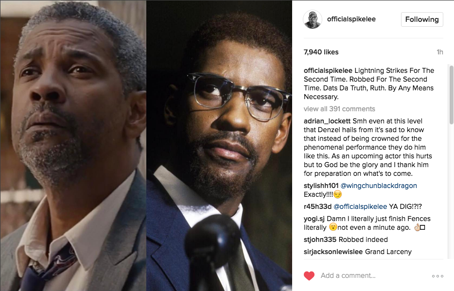 Spike Lee: Denzel Washington Snubbed By Oscars AGAIN!