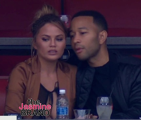 Yikes! Chrissy Teigen's Nipple Exposed During Super Bowl [Photo]