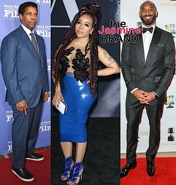 Marcus Scribner, Keesha Sharp, Denzel Washington, Tiny Harris, Kobe Bryant