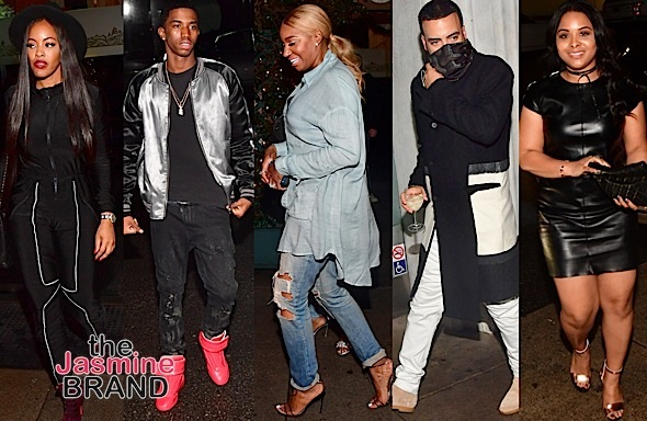 French Montana, Nene Leakes, Justin Combs, Mechelle Epps, Jussie Smollett, Malaysia Pargo In Beverly Hills [Photos]