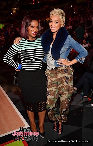 Monica, Kandi Burruss, Todd Tucker Hit Atlanta Hawks Game [Spotted. Stalked. Scene.]