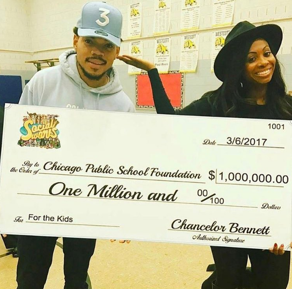 Chance The Rapper Giving 1 Million to Chicago Public Schools [VIDEO]