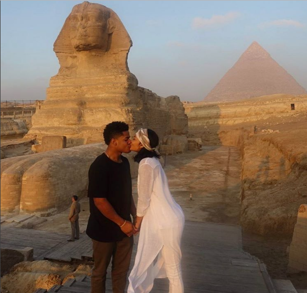 Chanel Iman & NFL'er Boyfriend Sterling Shepard Invade Egypt