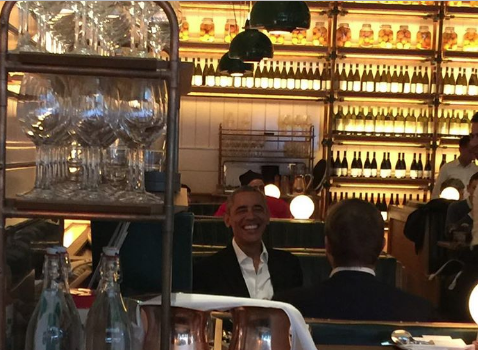 Former President Barack & Michelle Obama Lunch In NYC With Bono [Spotted. Stalked. Scene.]