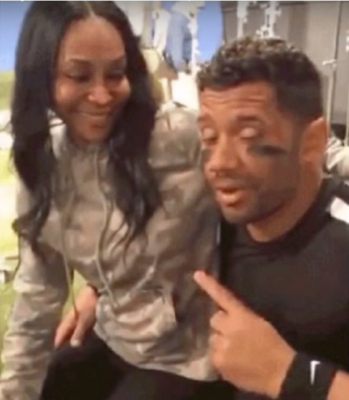 Ciara's Best Friend Sits On Husband Russell Wilson's Lap