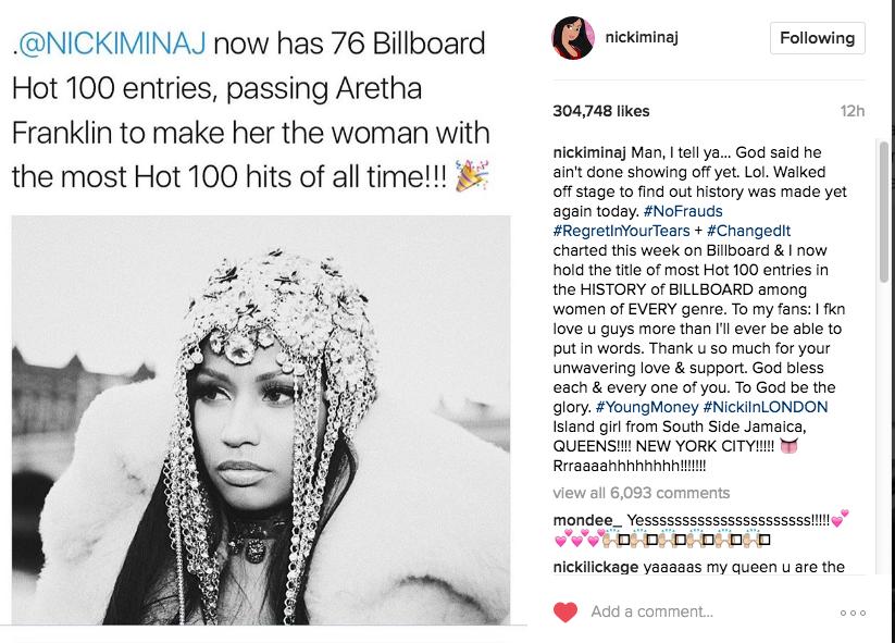 Nicki Minaj Celebrates Music Milestone With Twerk Session
