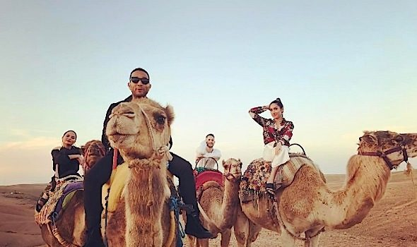 John Legend & Chrissy Teigen Visit Morocco [Photos]