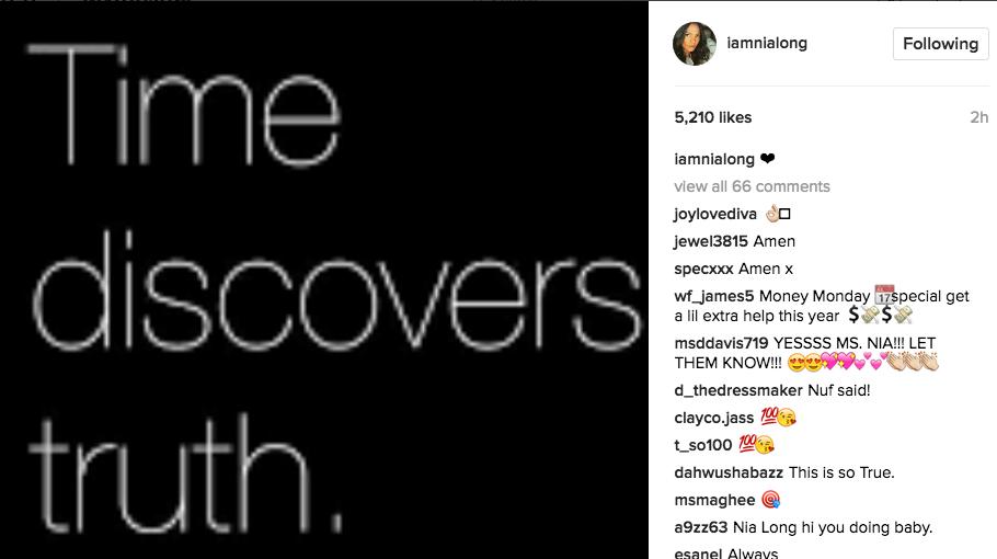 Nia Long Posts Message Amidst Rumors Of Beefing With Taraji P. Henson & 'Empire' Staff