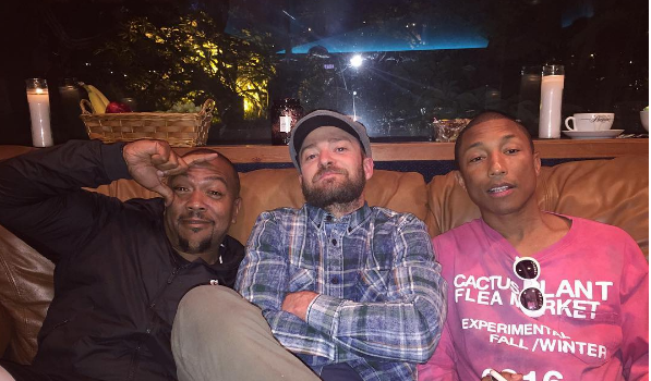 Timbaland, Justin Timberlake & Pharrell Working On New Music? [Photo]