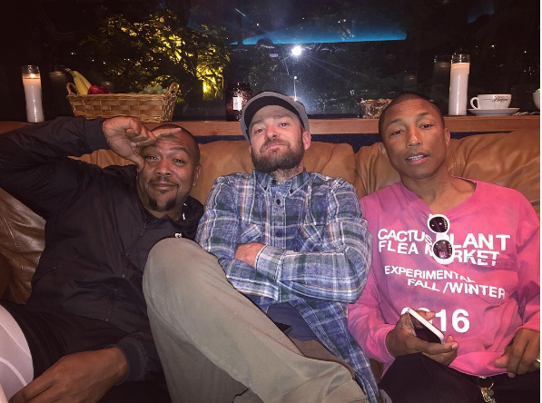 Timbaland, Justin Timberlake & Pharrell Working On New Music? [Photo]